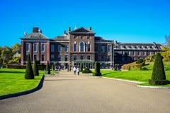 Kensington Palace, a royal residence in Kensington Gardens, London, England, UK stock photo