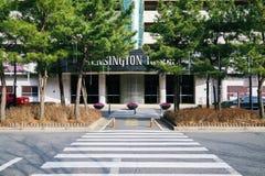 Kensington Resort with crosswalk in Korea. GYEONGJU, KOREA - February 8, 2017 : Kensington Resort with crosswalk Royalty Free Stock Images