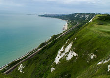 Kent coastline between Dover and Folkestone Stock Image