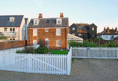 Kent country cottage white picket fence Royalty Free Stock Image