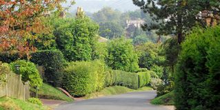 Kent country lane rural countryside trees road hill picturesque royalty free stock images