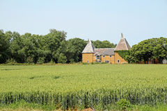 Kent country oast house Royalty Free Stock Photo