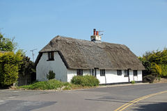 Kent country thatch cottage. Photo of a grade 11 listed thatch cottage situated in a rural kent village. May 2016 royalty free stock photography