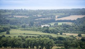 Kent Countryside e Leeds Castle fotos de stock royalty free