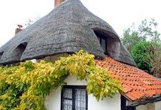 Kent a couvert le cottage de chaume de pays photographie stock