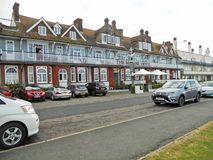 A Kent Establishment. This photo shows a The Marine Hotel. Located on the sea front on Tankerton Slopes, it is a popular establishment with the public stock photo