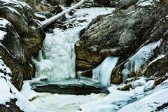 Kent Falls Connecticut durante o inverno fotografia de stock royalty free