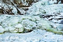 Kent Falls Connecticut durante o inverno imagens de stock