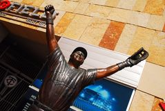 Kent Hrbek, Minnesota Twins. A Statue of Kent Hrbek, Celebrating the Winning of the 1987 World Series, Sits Outside Target Field in Minneapolis stock photography