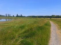 Kent marshes. River path summer Stock Photo