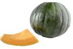 Kent Pumpkin mit dem Keil herausgeschnitten lokalisiert Stockfoto