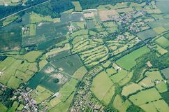 Kent villages, aerial view Stock Image