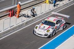 Kenta Yamashita of Porsche Team KTR in GT300 Quaiflying at 2015 Royalty Free Stock Photography