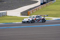 Kenta Yamashita of Porsche Team KTR in Super GT Final Race Warm Stock Photo