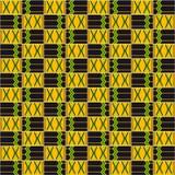 Kente ткани африканская картина безшовная бесплатная иллюстрация