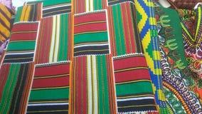 Kente ткани и ткани Стоковое Фото