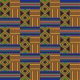 Этническая безшовная картина Ткань Kente Племенная печать бесплатная иллюстрация