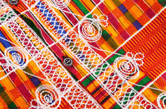Kente Cloth. Design on a West African garment made of Kente cloth Stock Photo