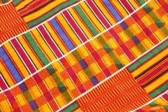 Kente Cloth. Close up of African kente cloth fabric Stock Photography