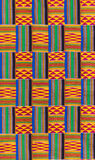 Kente cloth texture Royalty Free Stock Image