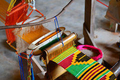Kente Cloth Weaving photographie stock libre de droits