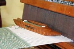 Kente cloth weaving. Antique kente cloth weaving machine Royalty Free Stock Photo