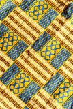 Kente Cloth. West African Kente Cloth Pattern Stock Photo