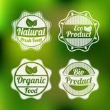 Kenteken, etiket en sticker voor voedselwinkel Stock Foto