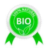 Kenteken van 100 Natuurlijke percents stock illustratie