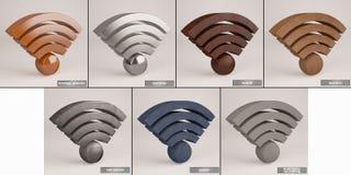 Kentekens draadloos WiFi Stock Fotografie