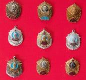 Kentekens, militaire school, inzameling Royalty-vrije Stock Foto's
