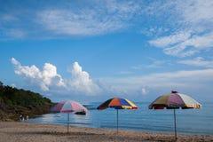 Kenting National Park Little Bay beach umbrellas Stock Photos