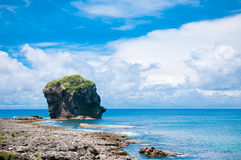 Kenting National Park. The stone like a sail located in Kenting, Taiwan Stock Images