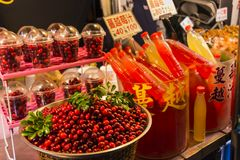 Fresh Lingonberry juice at Kenting Street Night Market royalty free stock photography