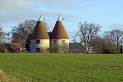 Kentish Oast House Stock Photo