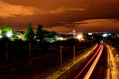 Kentish Town, London. Kentish Town railway at night, London Royalty Free Stock Photos