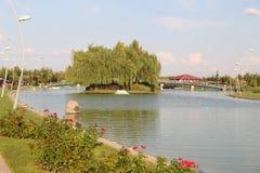 Kentpark dans la ville d'Eskisehir Photo libre de droits