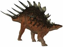 Kentrosaurus-3D Dinosaur Royalty Free Stock Photo