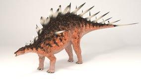 Kentrosaurus-Dinosaur. 3D Computer rendering illustration of Kentrosaurus dinosaur Stock Photos