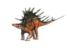 Kentrosaurus dinosaur walking Royalty Free Stock Photos