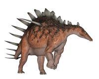 Kentrosaurus dinosaur walking - 3D render Stock Photo