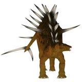 Kentrosaurus over White Royalty Free Stock Images