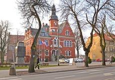 KENTShIN,波兰 前城市城镇厅的大厦 免版税库存照片