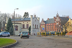 KENTShIN, POLAND. Building of the former Masonic lodge and school of Wojciech Kentshinsky Royalty Free Stock Photography
