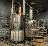 Kentucky Artisan Distillery. The distillation equipment at Kentucky Artisan Distillery in central Kentucky royalty free stock photo