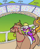 Kentucky Derby. Horse jockey rides in a derby event Royalty Free Stock Photos