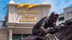 Kentucky Derby museum in Louisville - LOUISVILLE, USA - JUNE 14, 2019. Kentucky Derby museum in Louisville - LOUISVILLE, KENTUCKY - JUNE 14, 2019 royalty free stock image