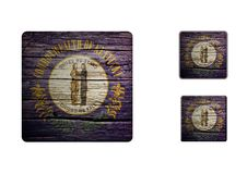 Kentucky Flag Buttons Stock Image