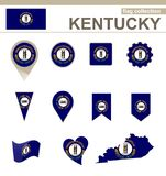 Kentucky Flag Collection. USA State, 12 versions royalty free illustration