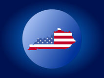 Kentucky flag globe vector illustration